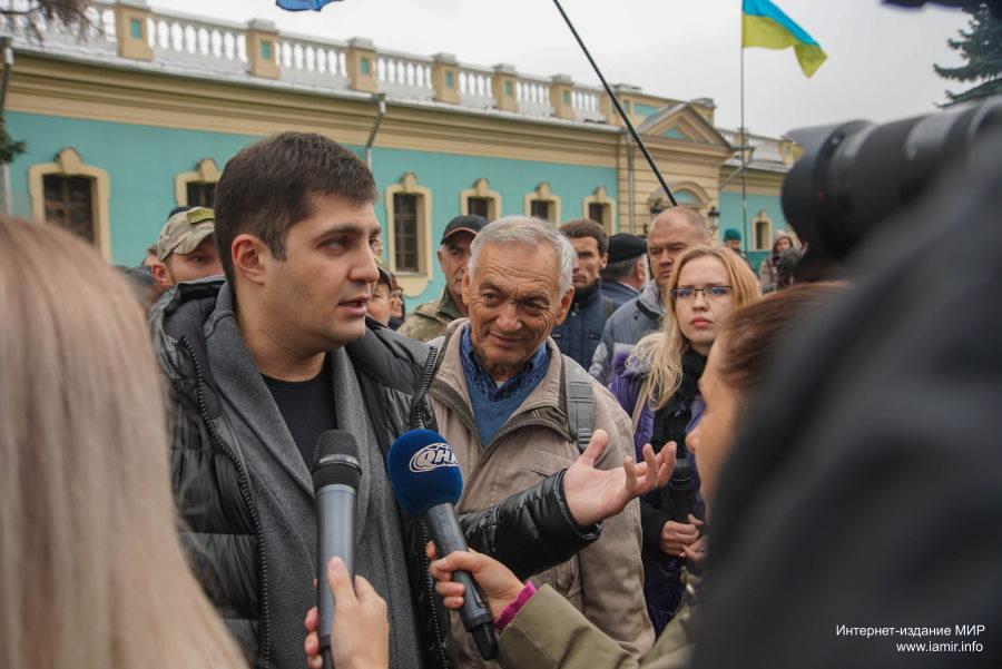 Давід Сакварелідзе зібрав під ГПУ акцію, вимагаючи відставки Віктора Шокіна